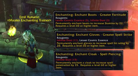 Enchants Higher thatn 375 Skill